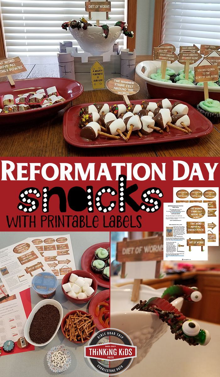 Reformation Day Snacks for your Reformation Day pa…