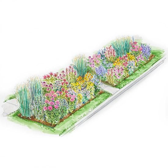 No fuss garden plans native plants your neighbors and count for Flower garden planner