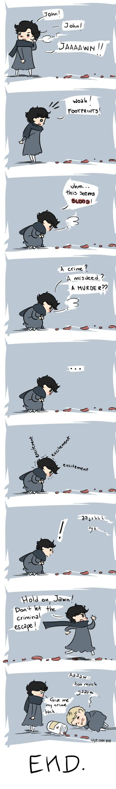 The rescue by ~YuriOokino on deviantART this was supposed to be funny. I realize this. But, even though its just a drawing and probably not cannon, the fact that Sherlock refuses to think that John is the one injured warms my heart. Yeah. I need season three.