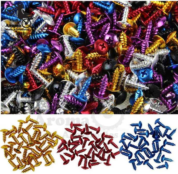 [Visit to Buy] 30 pcs unviersal colorful motocross Off-road moto decals car style home renovation fixed motorbike tip screw motorcycle screw  #Advertisement