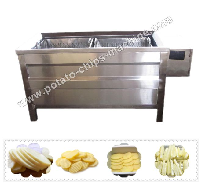 Link: http://potato-chips-machine.com/chips_machine/Electric-Potato-Blanching-Machine.html Email:  info@allancemachinery.com Electric blanching machine is used for blanching potato chips in French fries and potato chips production line. By using this machine, we can stop the enzyme activity in the potato and keep the fresh color, eliminate the off-flavor and keep the origin flavor, as well as increase the softness of the cell to help moisture evaporation.