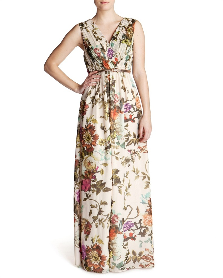 Ted baker cristen summer floral print maxi dress for Print maxi dress for wedding