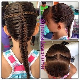 french fishtail eith microbraids