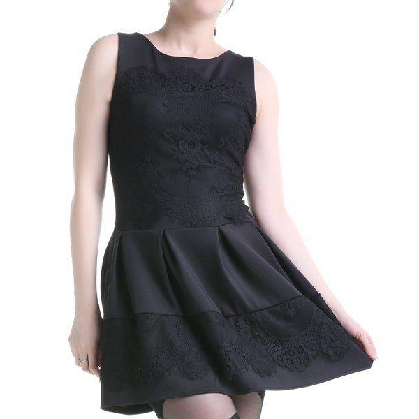 #Vestido #negro con #encaje