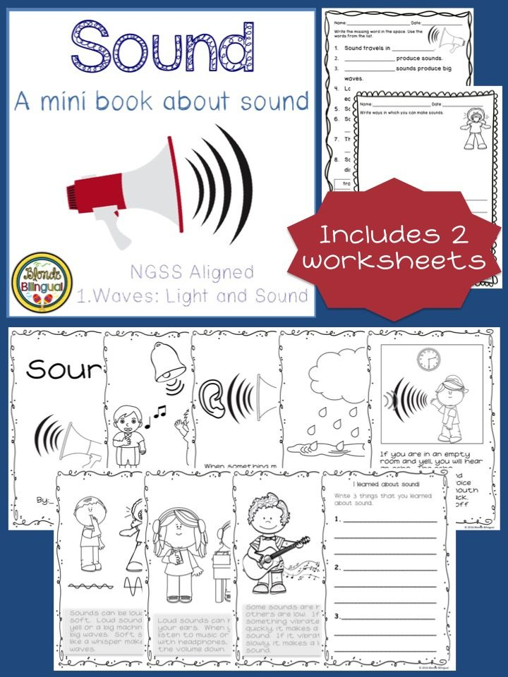 Sound Mini Book And Worksheets Ngss Aligned Sound Science First Grade Science Second Grade Science Sound worksheets grade 4