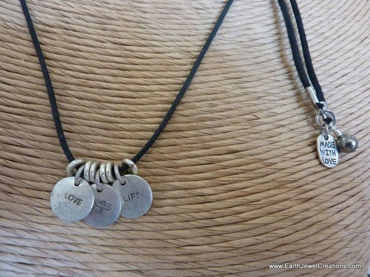 $55 - Triple Disk - Inspirational handmade gemstone jewellery Earth Jewel Creations Australia