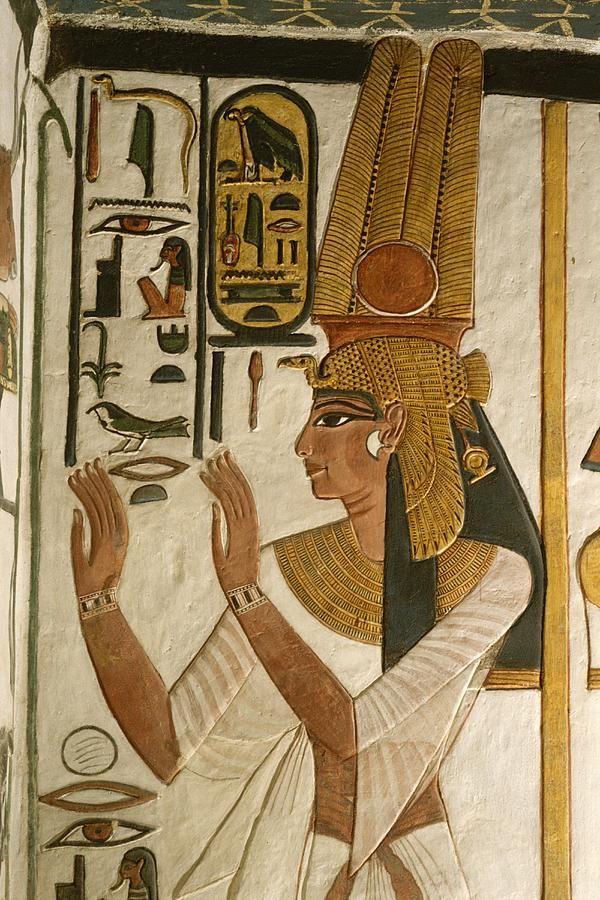 Cenas Nefertari Túmulo, Vale das Rainhas, Egito