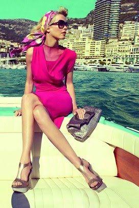 Claudia Schiffer for Salvatore Ferragamo Pink pink pink