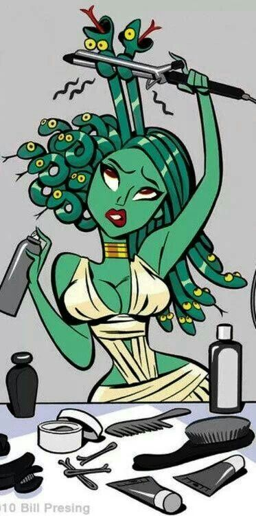 Hey Team Naturals... even Medusa has to fight for curls! !