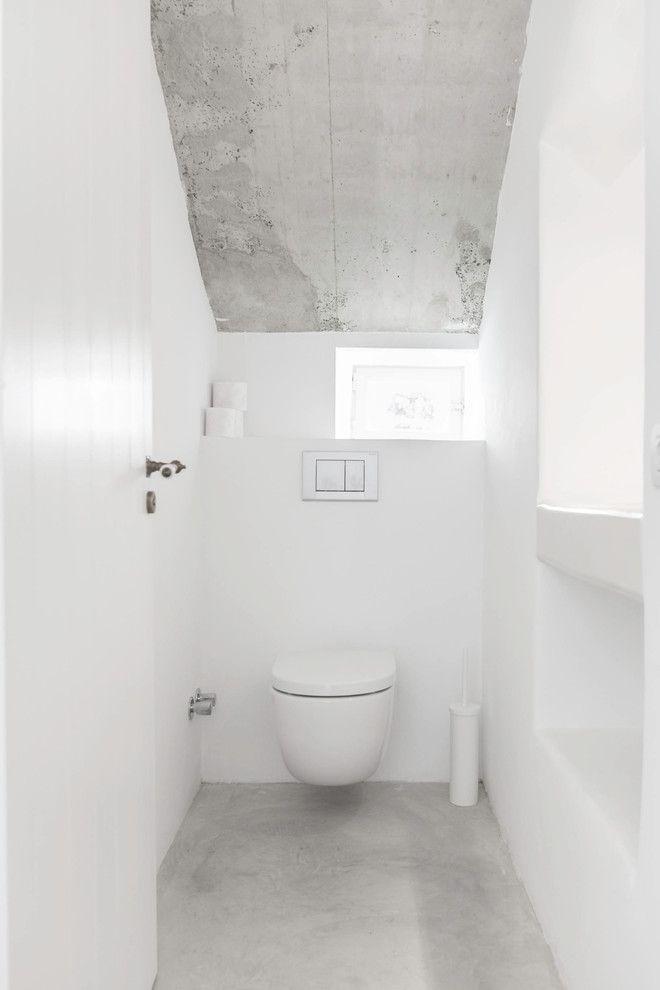 toiletten badezimmer ideen treppe nest badezimmer halle farben putz powder room - Wandputz Innen Ideen