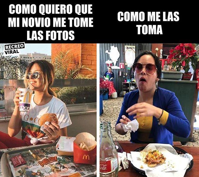 Siempre Salgo Comiendo Novio Foto Selfie Comida Fail Chistes Para Reir Memes Divertidos Chistes Graciosos
