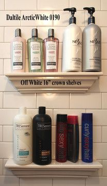 Bathroom Tile Storage - traditional - bathroom storage - dc metro - Bathroom Tile Shower Shelves  Cool idea