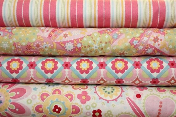pink, green, bluePink Blue, Blue Mint, Delicious Fabrics