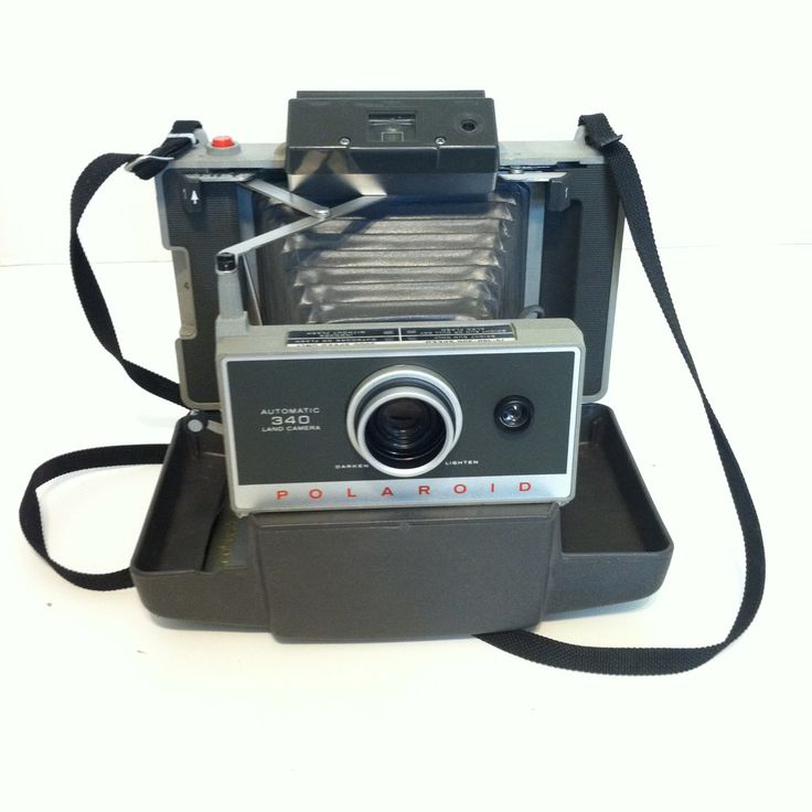 $42  Vintage POLAROID LAND CAMERA 340 With Cold Clip Vintage Camera Retro Polaroid Camera Instant Photo Camera Vintage Photo Prop by LastTangoVintage on Etsy