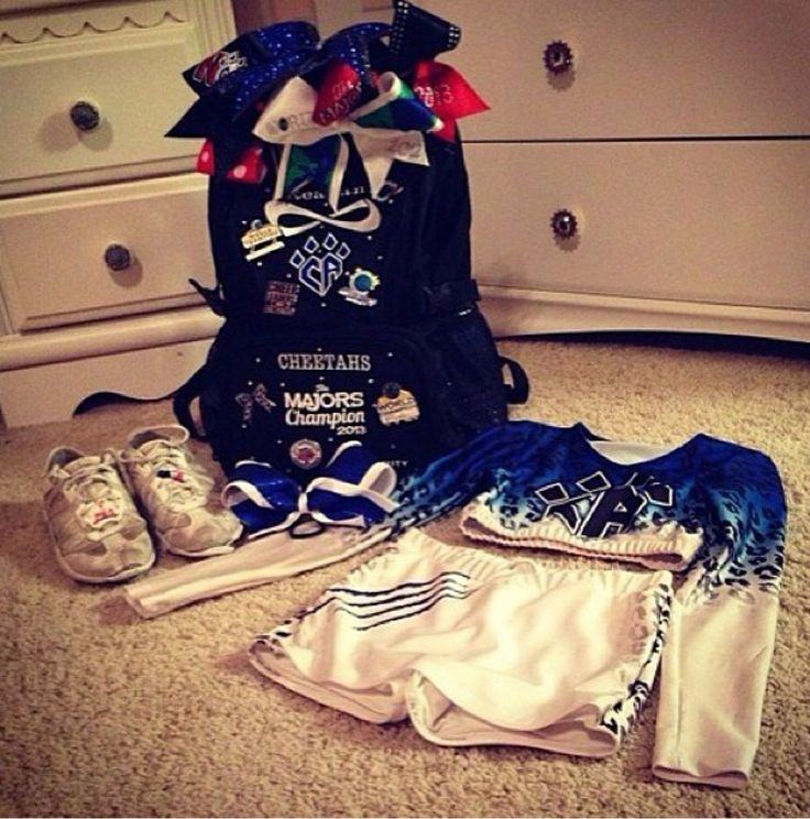 you know you're a cheerleader when your cheer backpack is FULL of bows you can simply never have too many!