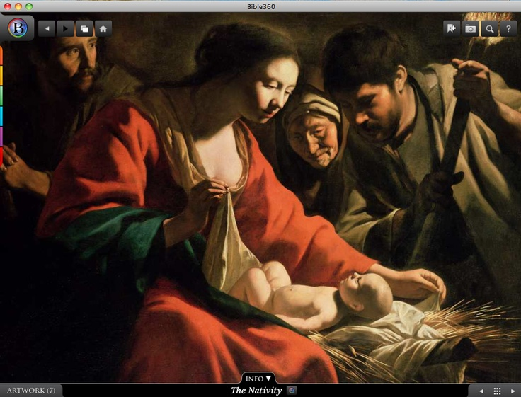 The Nativity. Bible360 is a free interactive socially-enabled app that brings the scripture to life through video, photos, maps, virtual tours, reading plans and more! Download it for FREE, www.bible360.com