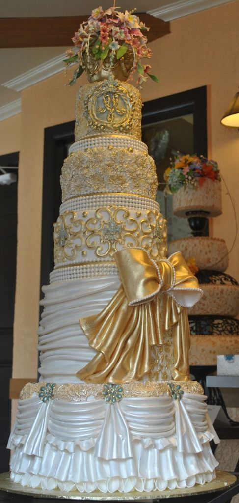 """""""Royal wedding cake"""" inspired by Marie Antoinette..Designed and created by The Cake Zone"""