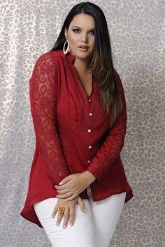 Moda Estilo Y Distinción Para Gorditas: Blusas Elegantes en Talles Especiales