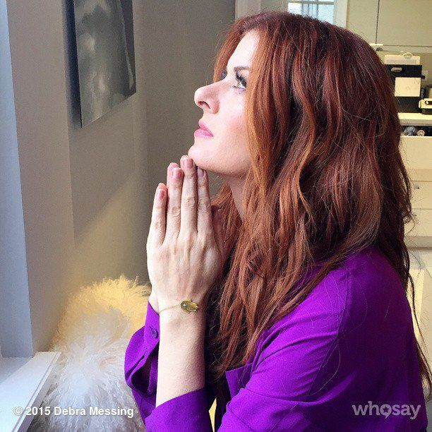 Pin for Later: This Week's Cutest Celebrity Candids  Debra Messing got in touch with her spiritual side.