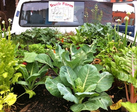 A Pickup Truck Grows an Educational Mini-Farm - News - GOOD: Education Minifarm, Pickup Trucks, Trucks Farms, Food Trucks, Connection Kids, Chicago Children, Farms Chicago, Education Minis Farms, Trucks Growing