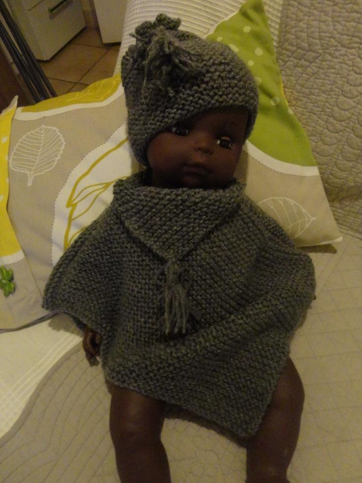 le poncho bébé et son bonnet