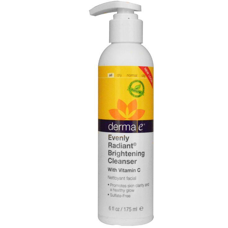 Derma E, Осветляющее очищающее средство для равномерного блеска, 6 жидких унций (175 мл)