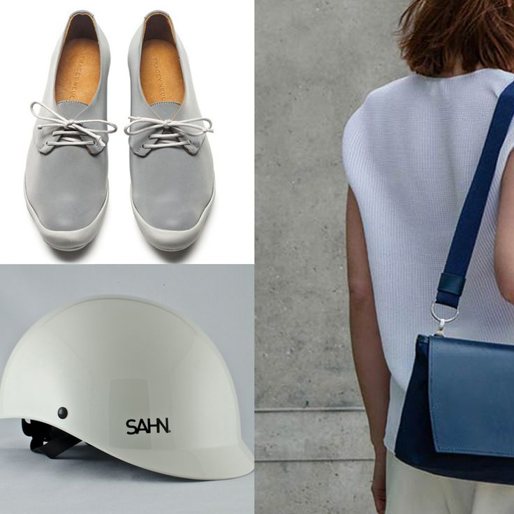 The perfect commuter wardrobe for active modern women.  Cycle to work with our Eris across-bodyhandbag in navy, silver reflective #bikegeek shoes and a simple stylish bicycle helmet.   @michaux_club  @traceyneuls  @sahnhelmets   #commuter #cyclist #activewear #functionalfashion #ss16 #womenswear #cyclechic #minimal #handbag #britishmade