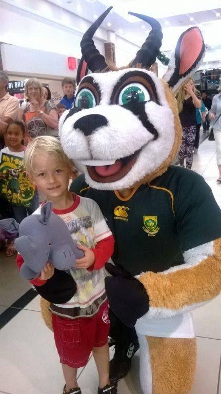 Rhino supports the springboks!