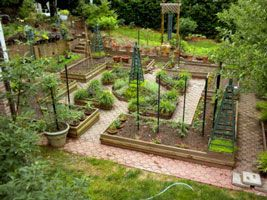 A potager garden with flowers and vegetables combined, how to design a potager garden...