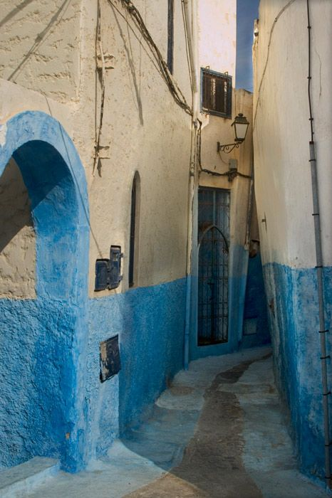 Alley in the Casbah of the Wadayahs, Rabat, Morocco