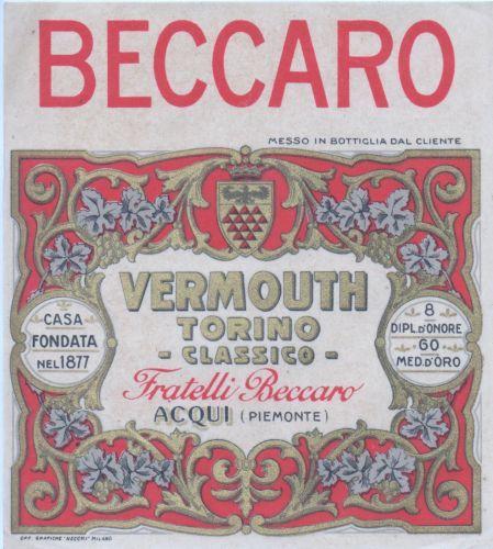 ETICHETTA-LIQUORE-VERMOUTH-TORINO-BECCARO-ACQUI-PIEMONTE