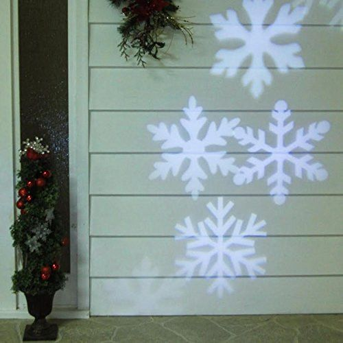 Felices Pascuas Collection Outdoor LED Snowflake Christmas Light Projector with Remote Control