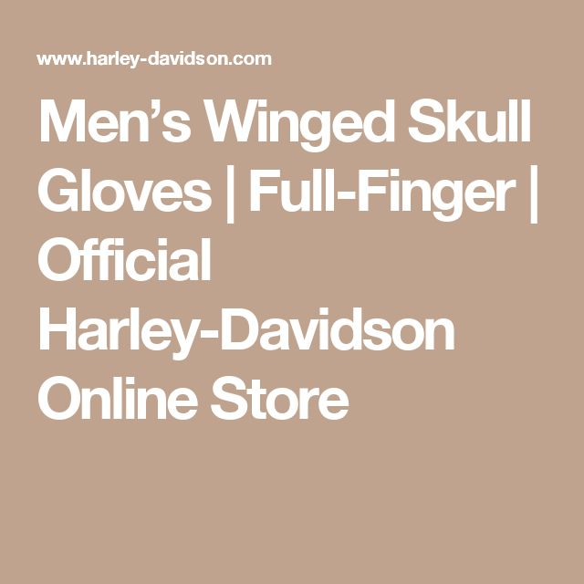 Men's Winged Skull Gloves   Full-Finger   Official Harley-Davidson Online Store