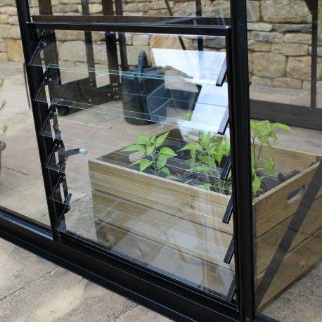 Louvre de ventilation noire pour serres Eden Greenhouses
