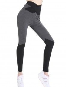 Tight Color Block Kinetic Grey Legging Comfort Fit