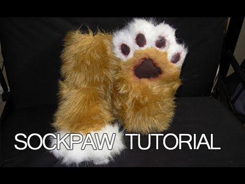 Sock Paw Tutorial - YouTube