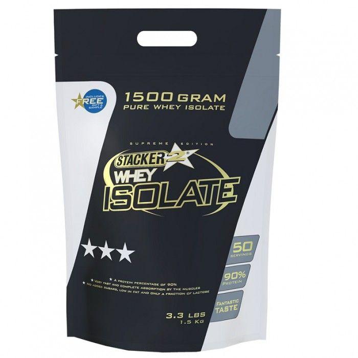 Stacker Whey Isolate Chocola  Description: STACKER WHEY ISOLATEWhey Isolate van Stacker is de meest geavanceerde proteïne binnen de Stacker product range. Met een eiwitpercentage van maar liefst 90% de beste smaak in de markt en een maximale (volledige) oplosbaarheid maken Stacker Whey Isolate tot de beste keuze die je als topsporter kan maken. Een portie Stacker Whey Isolate van 30 gram poeder zal je 11 gram glutamine en BCAA?s geven. Dit zijn de belangrijkste aminozuren voor spieropbouw en…