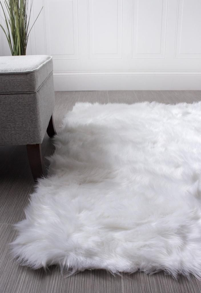 Serene Faux Fur Shag Rug Faux Sheepskin Rug Childrens Room Rugs Faux Fur Area Rug