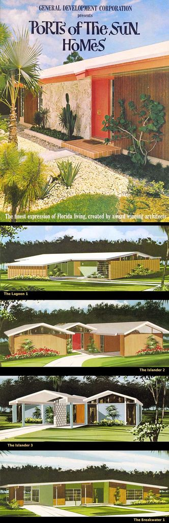 Ports of the Sun Mid Century Modern Ranch Homes #vintage #architecture #advertising