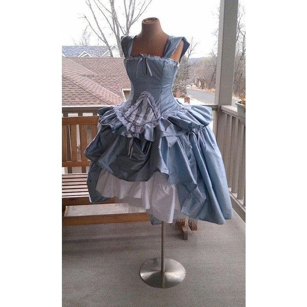 Items similar to Alice in Wonderland Wedding Gown - Corset Fairytale... ❤ liked on Polyvore featuring accessories, hair accessories and burton