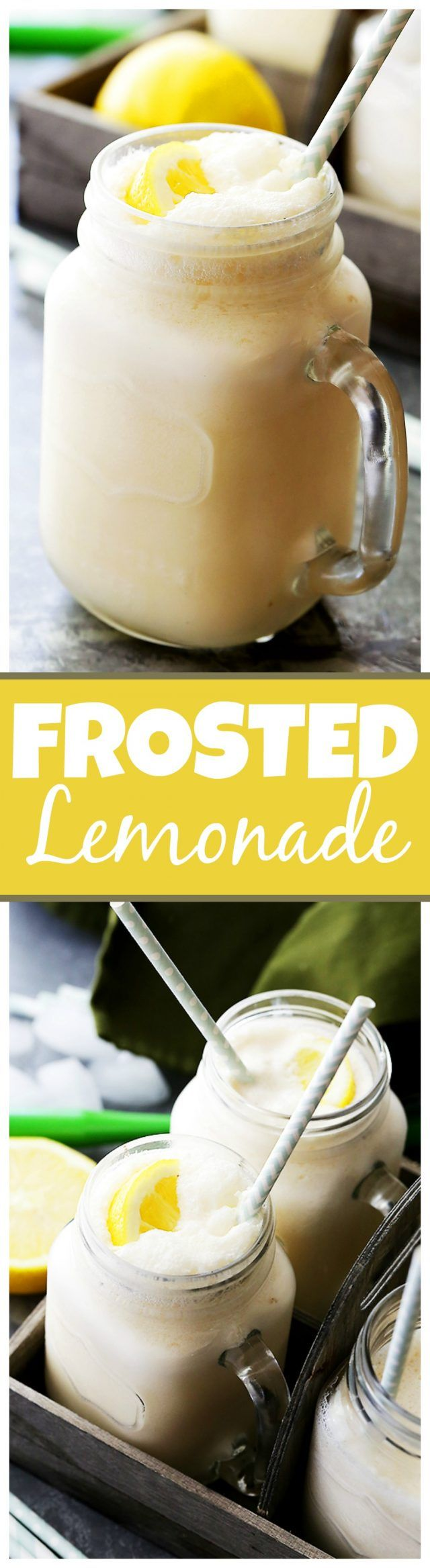 Frosted Lemonade Recipe - Easy, delicious and refreshing two-ingredient Chick-fil-A Frosted Lemonade copycat made with lemonade and…