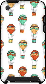 Hot Air Balloon Pattern on iPod Touch 4G case - by herker $39.30
