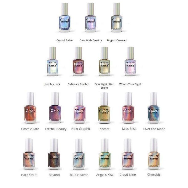 halo hues complete set - color club - nail polish