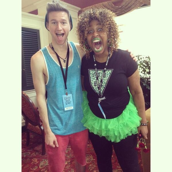 Ricky Dillon and GloZell! LOL glozell face...I can just picture her reaction meeting him...
