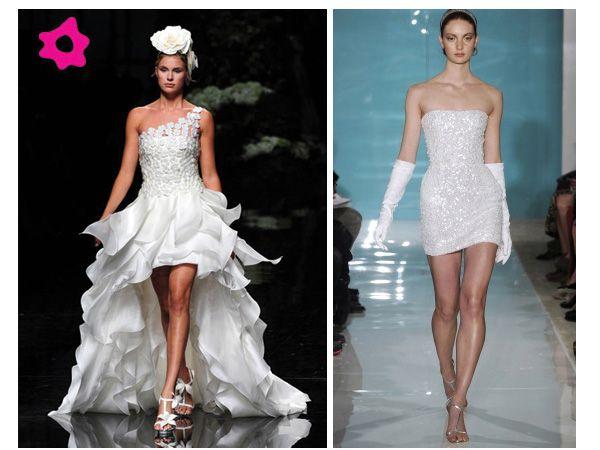los vestidos de novia cortos o cortos por delante y largos por