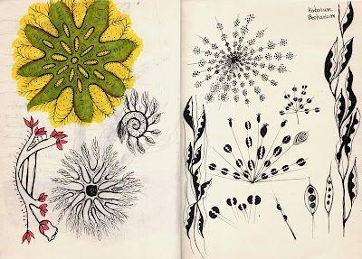 SketchBook. Textile Design, Illustration, Sport mode: Floral textile design sketch