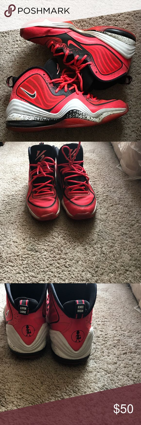"""Nike Air Penny 5's """"Lil Penny""""   Nice popping red   Size 11 shoe   Mint Condition Nike Shoes Sneakers"""