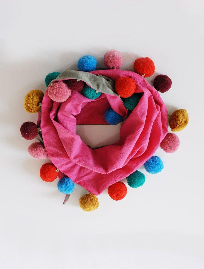 the | pompom | scarf