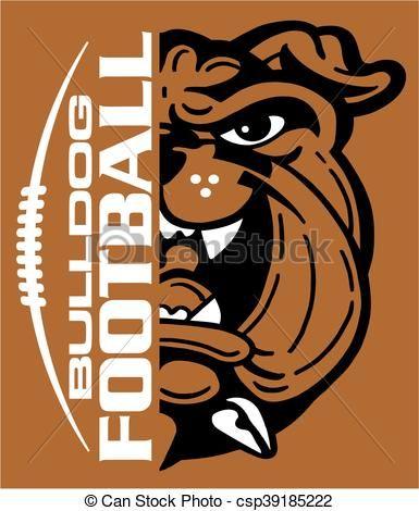 vector bulldog football stock illustration royalty