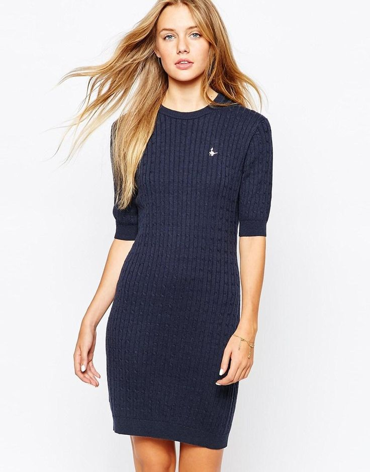 Jack Wills | Jack Wills Cable Knit Jumper Dress at ASOS